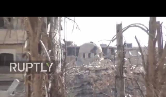 Chiến tuyến chiến trường Deir ez Zor tan hoang trong rất nhiều trận chiến vài năm qua