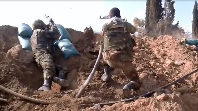 Binh sĩ Syria trên vùng Đông Ghouta