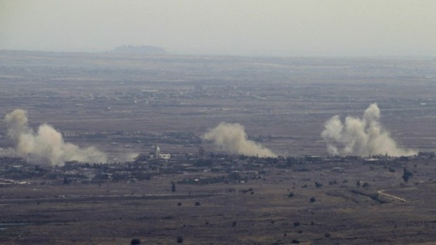Không quân Israel phóng tên lửa vào vị trí của quân đội Syria trên cao nguyên Golan