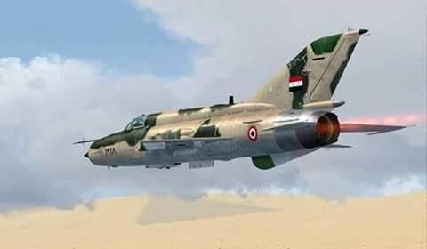 Máy bay chiến đấu Syria không kích (ảnh minh họa)