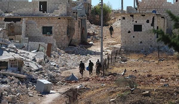Binh sĩ quân đội Syria trên chiến trường phía Tây Aleppo