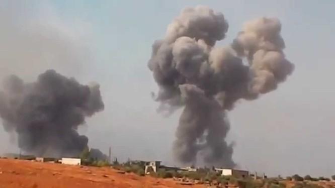 Không quân Syria không kích ác liệt trên địa phận tỉnh Hama