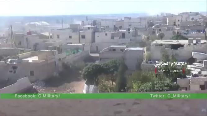 Quận Aleppo dưới hỏa lực pháo kích của quân đội Syria