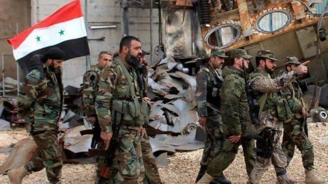 Thiếu tướng Suheil Al-Hassan và các binh sĩ Syria trên chiến trường Aleppo (ảnh minh họa)