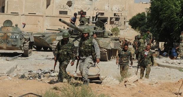 Binh sĩ Syria trên chiến trường Đông Ghouta