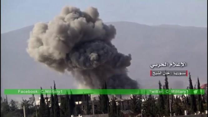Không quân Nga không kích dữ dội các mục tiêu ở Tây Ghouta