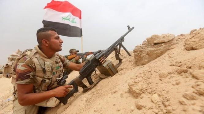 Binh sĩ Iraq trên chiến trường Mosul