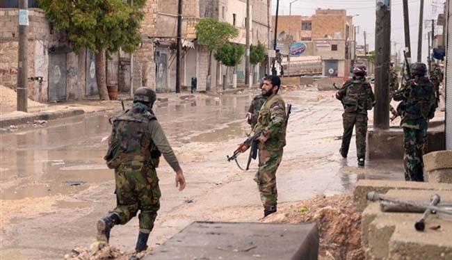 Binh sĩ quân đội Syria trên chiến trường Tây Nam thành phố Aleppo