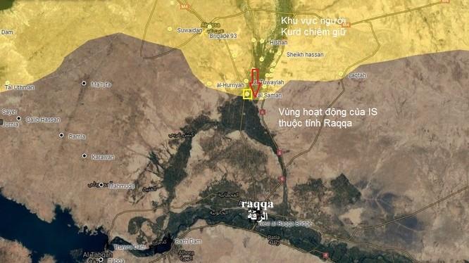 Sơ đồ vị trí chiến đấu của lực lượng SDF ở Syria