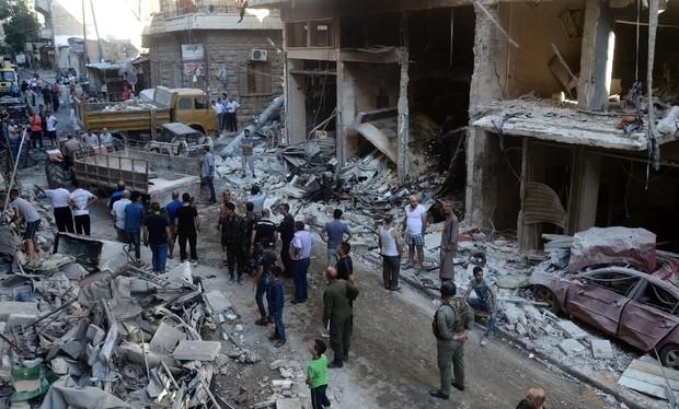 Một khu phố trên hành lang nhân đạo bị lực lượng Hồi giáo cực đoan tàn phá