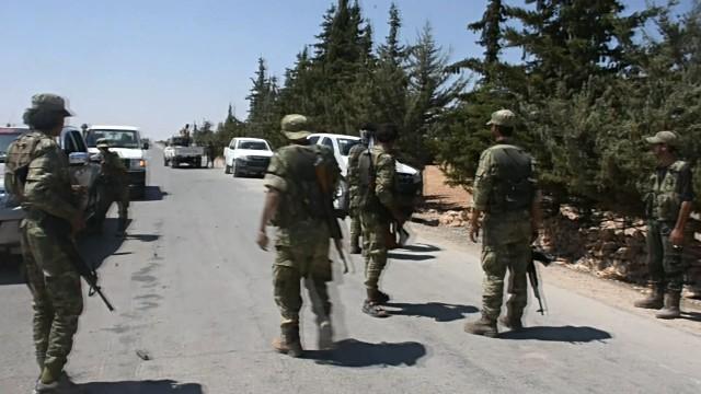 Binh sĩ Syria trên vùng ngoại ô Damascus