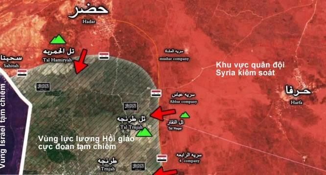 Hướng tấn công của quân đội Syria trên cao nguyên Golan