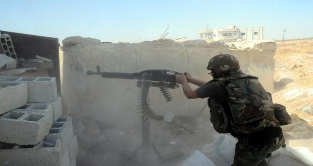 Quân đội Syria chiến đấu trên chiến trường Deir ez Zor