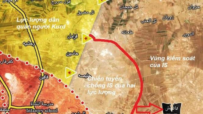 Quân đội Syria, lần đầu tiên phối hợp với lực lượng SDF tấn công IS phía đông Aleppo