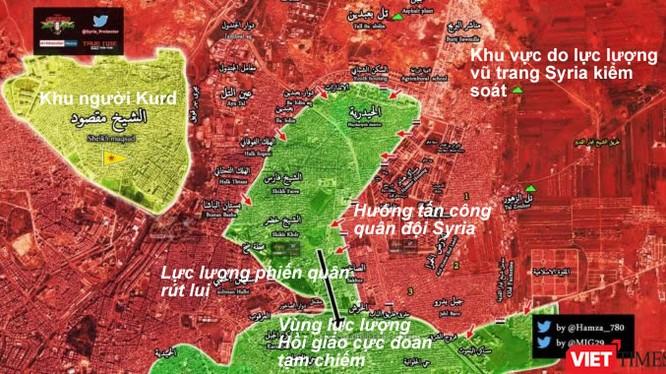 Tình hình chiến sự khu vực phía đông thành phố Aleppo