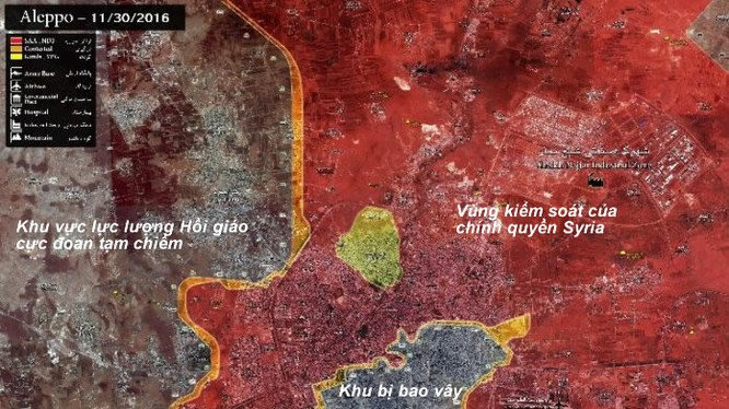 Tình hình chiến sự Aleppo, vòng vây đang siết chặt
