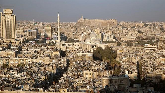 Toàn cảnh một góc thành phố Aleppo (ảnh Kinana Allouche)