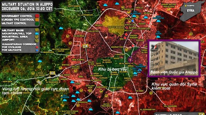 Bản đồ chiến sự thành phố Aleppo tính đến ngày 06.12.2016