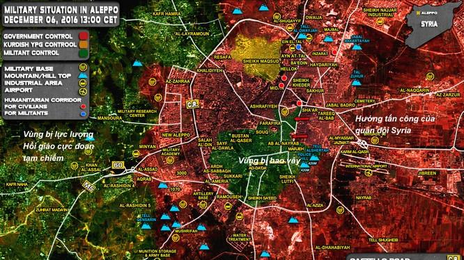 Tình hình chiến sự thành phố Aleppo tính đến ngày 06.12.2016