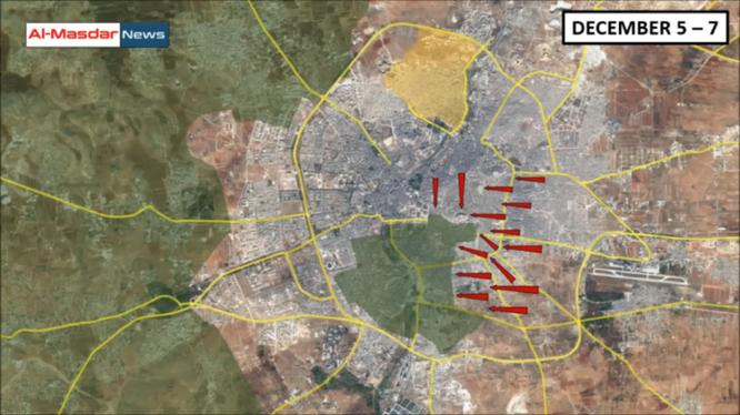Tổng quan tình hình chiến sự Syria tính đến ngày 08.12.2016