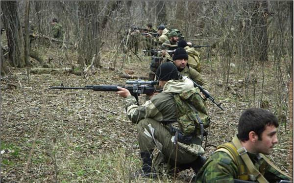 Các quân nhân thuộc lực lượng đặc nhiệm Chechnya