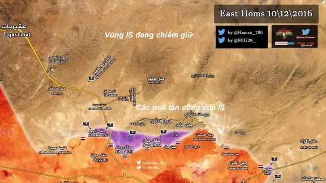 Bản đồ chiến sự thành phố Palmyra ngày 10.12.2016