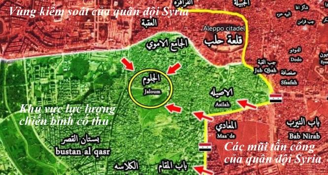 Tình hình chiến sự Aleppo ngày 11.12.2016