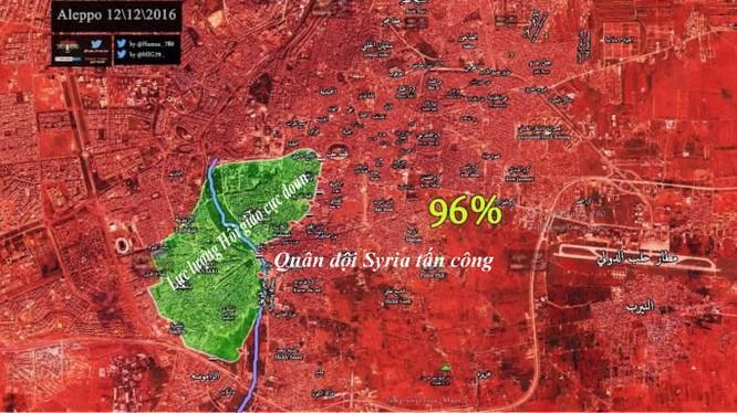 Tình hình chiến sự Aleppo tính đến ngày 12.12.2016