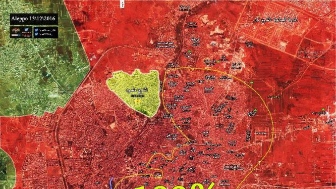 Toàn bộ chiến trường Aleppo hoàn toàn giải phóng