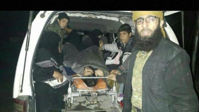 Các tay súng bị thương di tản ra vùng ngoại ô Aleppo