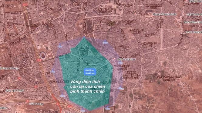 Bản độ chiến sự cuối cùng của thành phố Aleppo
