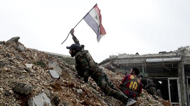 Binh sĩ quân đội Syria trên chiến trường (ảnh minh họa)