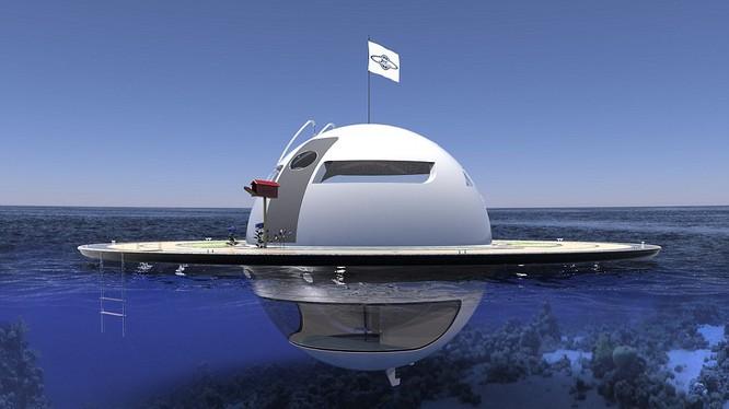 Nhà nổi dạng UFO trên biển