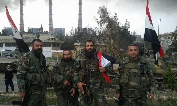 Lực lượng Tiger trên chiến trường Aleppo sau khi giành được thắng lợi