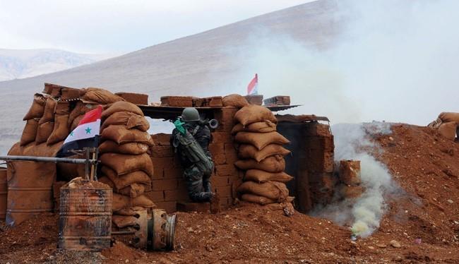 Binh sĩ quân đội Syria trên chiến trường Đông Ghouta