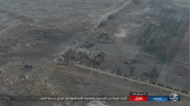 Một góc chiến trường thành phố al-Bab, tỉnh Aleppo