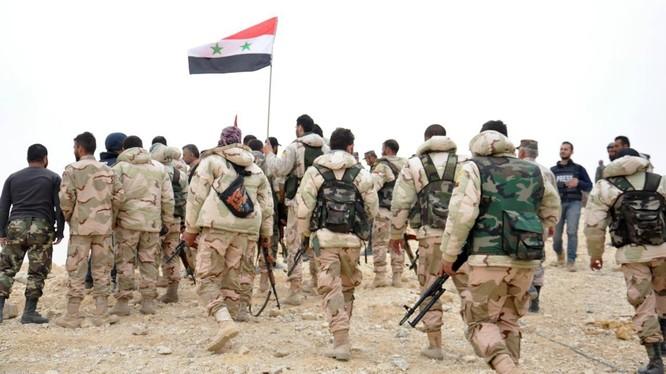 Một đơn vị bộ binh quân đội Syria