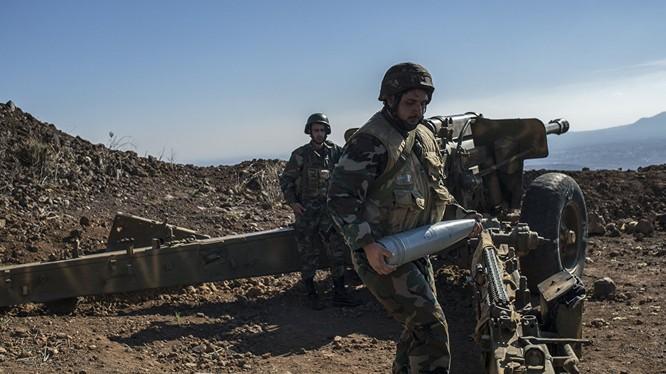 Pháo binh quân đội Syria tấn công IS trên chiến trường Aleppo