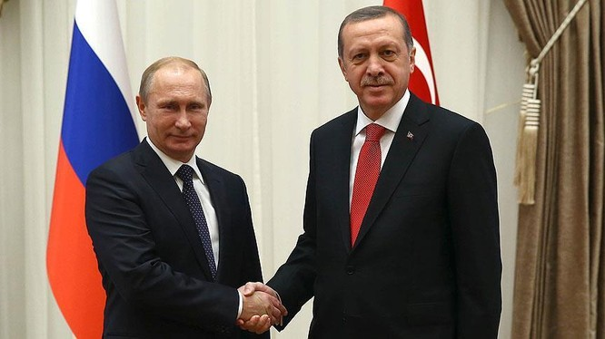 Tổng thống Nga V.Putin và tổng thống Thổ Nhĩ Kỳ Recep Erdogan (ảnh minh họa)
