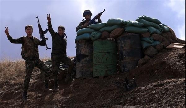 Một điểm chốt hỏa lực quân đội Syria ở sân bay T-4
