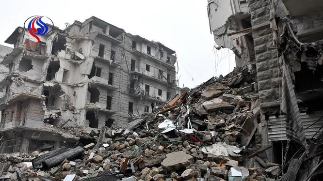 Cảnh hoang tàn đổ nát ở Aleppo sau 3 năm chiến tranh tàn phá