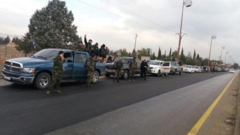 Lực lượng Lá chắn Qalamoun tăng cường đến ngoại ô Damascus chuẩn bị cho cuộc tấn công vào Wadi Barada