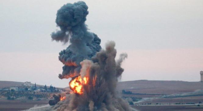 Một vụ không kích của không quân Nga trên chiến trường ngoại ô Aleppo