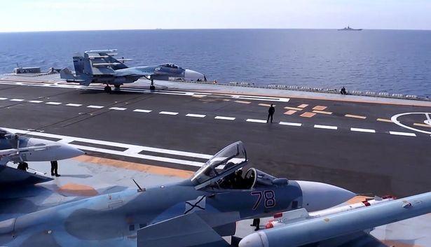 Trên tàu sân bay Đô đốc Kuznetsov ở Syria