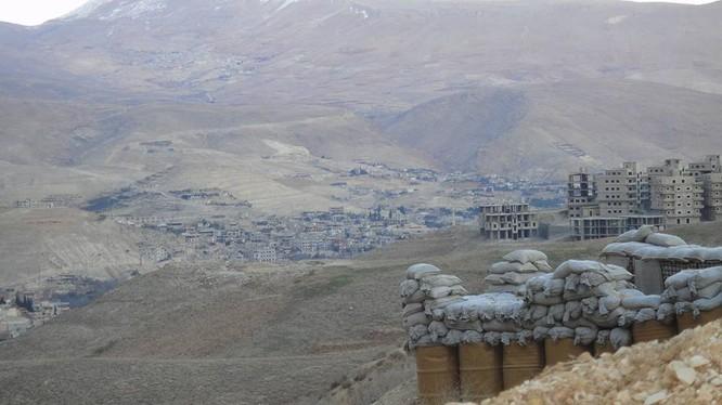 Một phần khu vực Wadi Barada sau khi tạm ngừng tiếng súng