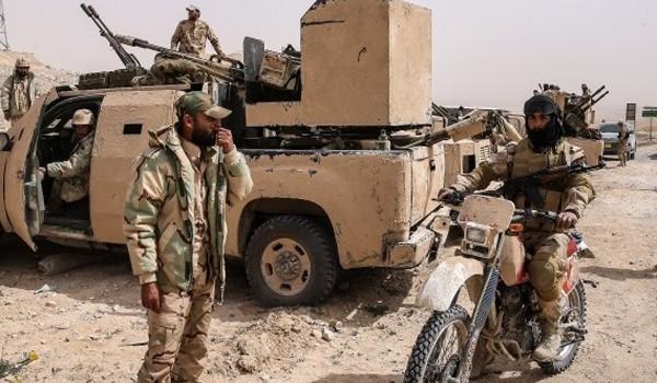 Một đơn vị trinh sát hỏa lực của quân đội Syria ở Hama