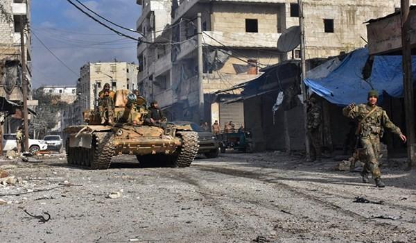 Binh sĩ quân đội Syria trên chiến trường Wadi Barama