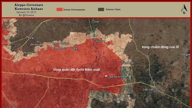 Bản đồ tình hình chiến sự khu vực đông Aleppo