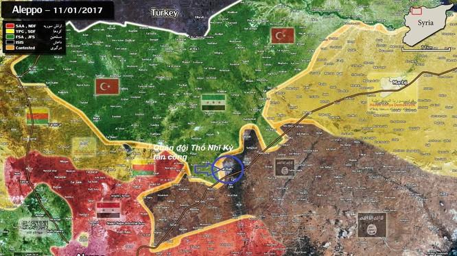 Bàn đồ chiến sự thành phố Aleppo