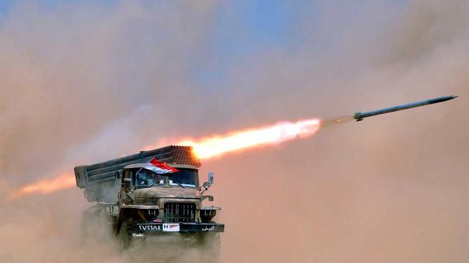 Pháo phản lực Grad quân đội Syria khai hỏa